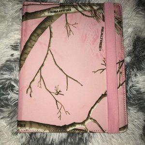 RealTree Pink Camo 360 Degree Spin iPad Case